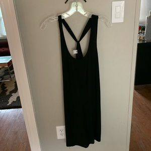 Old Navy cross cross back tank black dress, Sm 🖤